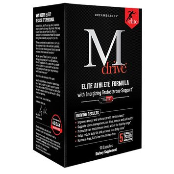 Dream Brands - M Drive Elite Energizing Testosterone Booster - 90 Vegetarian Capsules