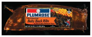 Plumrose In Hot Sauce Ribs Baby Back Hot & Spicy