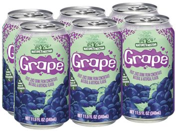 Nature's Nectar Grape, Modified 10 Juice Drink
