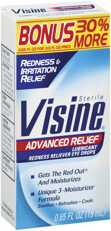 Visine® Visine Advanced Relief 30% Bonus Redness/Irritation Relief