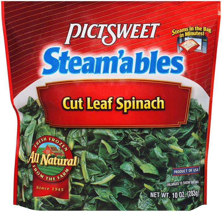 STEAM'ABLES ALL NATURAL Cut Leaf Spinach