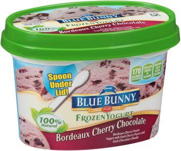 Blue Bunny Frozen Yogurt Bordeaux Cherry Chocolate Ice Cream