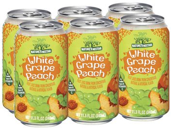 Nature's Nectar White Grape Peach, Modified 10 Juice Drink