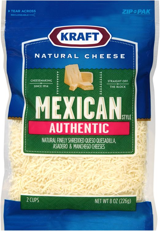 Kraft Natural Cheese Mexican Style Authentic Finely Shredded Cheese