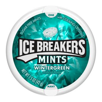 ICE BREAKERS SUGAR FREE MINTS WINTERGREEN