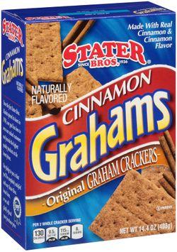 Stater bros® Cinnamon Grahams Original Graham Crackers