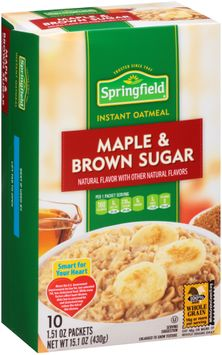 Springfield® Maple & Brown Sugar Instant Oatmeal 1 Packets