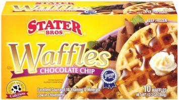 Stater Bros. Chocolate Chip Waffles 10 Ct Box