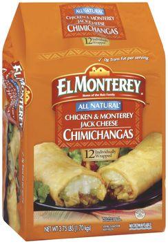 El Monterey All Natural Chicken & Monterey Jack Cheese 12 Ct Chimichangas