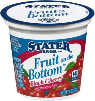 Stater bros® Fruit on the Bottom Low Fat Black Cherry Yogurt