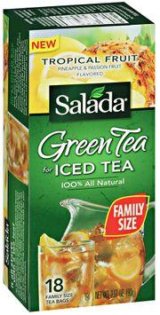 salada® green tea for iced tea tropical fruit flavored