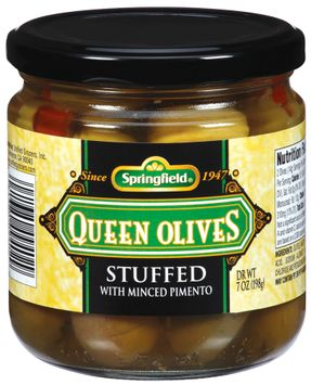 Springfield Queen Stuffed W/Minced Pimento Olives