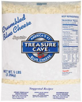 treasure cave® blue crumbled cheese