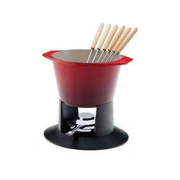 Le Creuset Gourmet Fondue Set - Cherry - Le Creuset Enameled Cast Iron