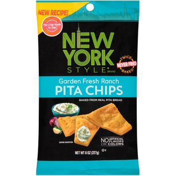 new york style® garden fresh ranch pita chips