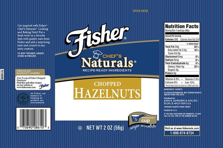 Fischer® Chef's Naturals® Chopped Hazelnuts