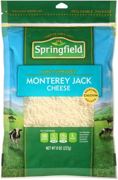 springfield® fancy shredded monterey jack cheese