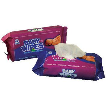 Royal Paper Baby Wipes Refill Pack with Unscented in White - 80/Pack