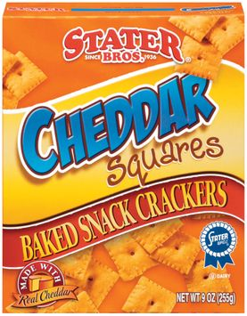 Stater bros Cheddar Squares Baked Snack Crackers