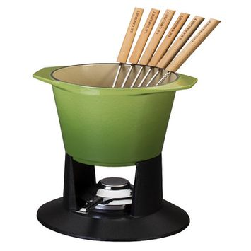 Le Creuset Of America Inc Le Creuset 1.75 qt. Traditional Fondue with Stand - Palm