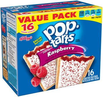 Kellogg's® Frosted Raspberry Pop•Tarts® Toaster Pastries 16 ct Box