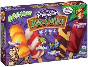 PhillySwirl® Jungle Swirls Organic Smooth Fruit Sorbet Bars