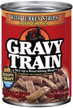 Gravy Train Strips in Gravy with Turkey Strips Wet Dog Food, 13.2-Ounce Can
