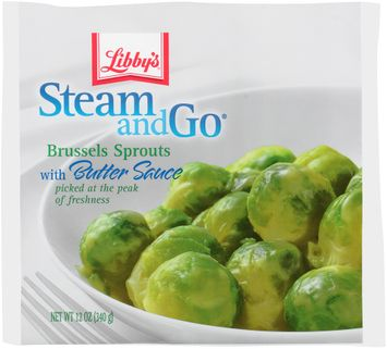libby's® steam & go® brussels sprouts with butter sauce