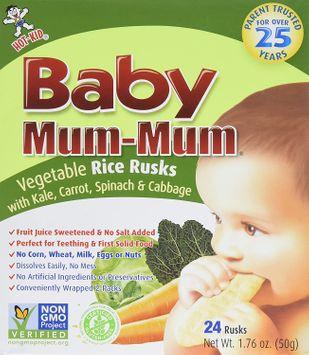 Baby Mum-Mum Rice Rusks - Vegetable Teether Cookie (1.76 oz)