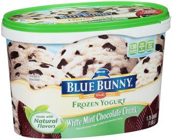 Blue Bunny Frozen Yogurt White Mint Chocolate Chunk