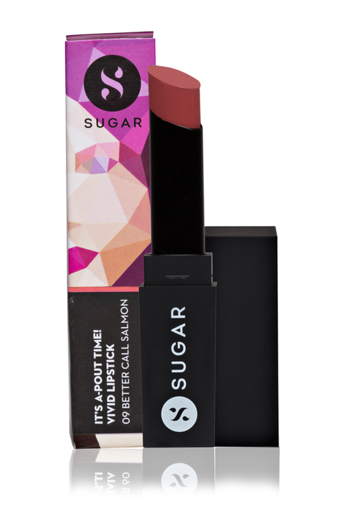 SUGAR It's A-pout Time! Vivid Lipstick Better Call Salmon