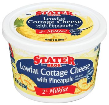 Stater bros Lowfat W/Pineapple 2% Milkfat Cottage Cheese