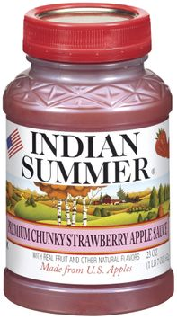 Indian Summer Chunky Strawberry Apple Sauce