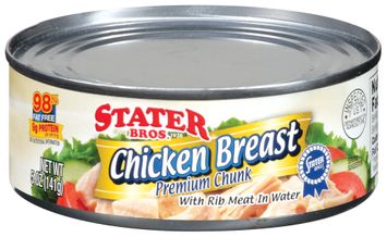 Stater bros Premium Chunk W/Rib Meat In Water Chicken Breast