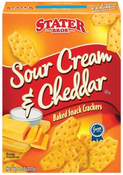 Stater bros Sour Cream & Cheddar Baked Snack Crackers