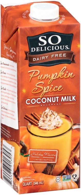 So Delicious® Dairy Free Pumpkin Spice Coconut Milk Beverage 1 qt. Aseptic Carton