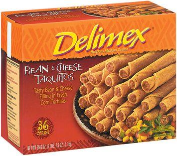 Delimex Bean & Cheese 36 Ct Taquitos