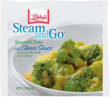 libby's® steam & go® broccoli cuts with cheese sauce