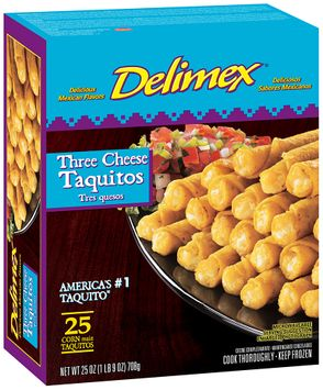 Delimex® Three Cheese Taquitos 25 ct