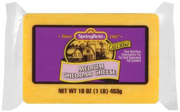 springfield® medium cheddar cheese