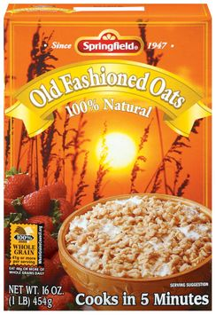 Springfield Old Fashioned Oats 100% Natural Oatmeal