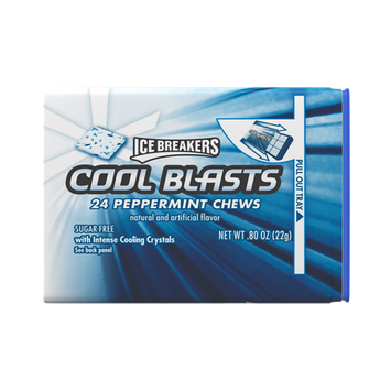 ICE BREAKERS COOL BLASTS PEPPERMINT CHEWS