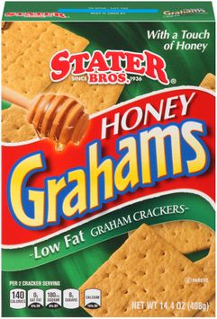 Stater bros® Honey Grahams Low Fat Graham Crackers