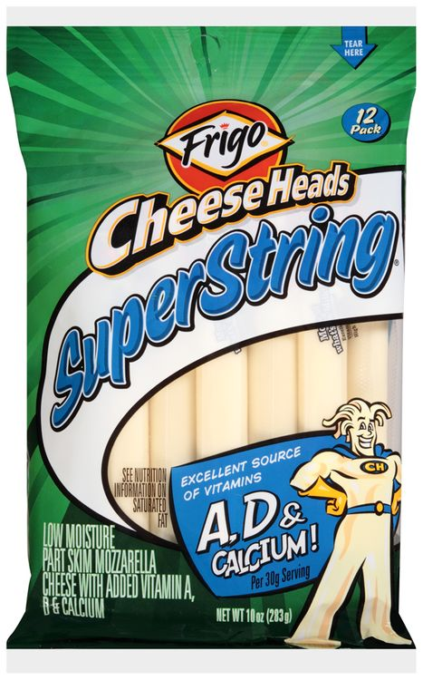 Frigo® Cheese Heads® Superstring® String Cheese 12 ct Bag