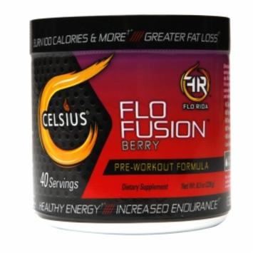 Celsius - Flo Fusion Pre-Workout Formula Berry 40 Servings - 8.3 oz.