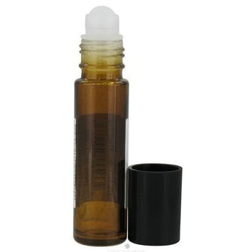 Sanctum Aromatherapy - Amber Glass Bottle with Roll On Applicator and Black Cap - 10 ml. (1 Unit)