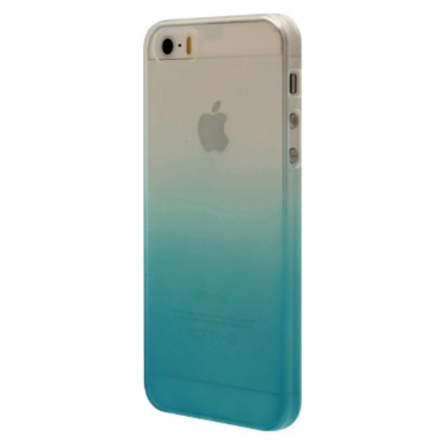 Mobiliving Fade Cell Phone Case for iPhone 5/5S -Turquoise (CO8076)