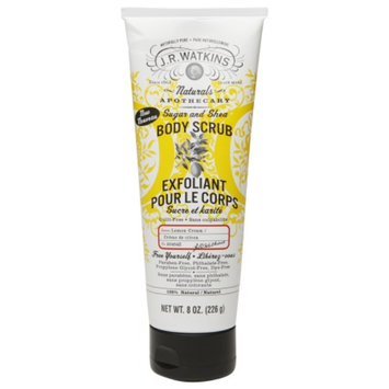 J.R. Watkins Naturals Sugar & Shea Body Scrub, Lemon Cream, 8 oz