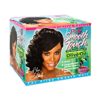 Luster's Pink Smooth Touch Limited Edition Regular New Growth Relaxer Kit with Triple Strength Olive Oil Conditioner