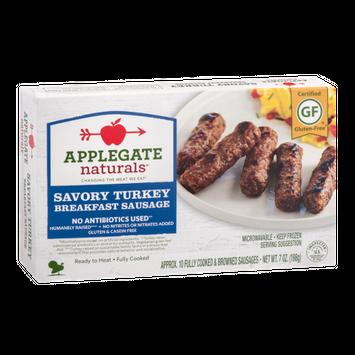 Applegate Naturals Breakfast Sausage Savory Turkey -10 CT